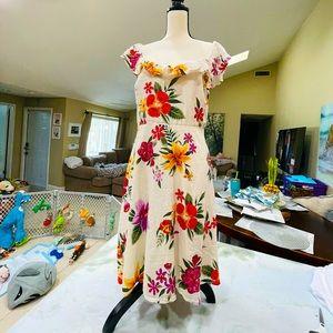 Old Navy Floral Flutter Sleeve Dress Size XLG